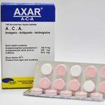 نحوه مصرف آکسار – آیا آکسار همان آسپرین است ؟  عوارض قرص آکسار – Axar – آ ث آ – ACA – آکا