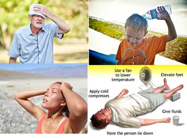 درمان گرمازدگی و سردرد