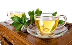 دمنوش چای سبز .